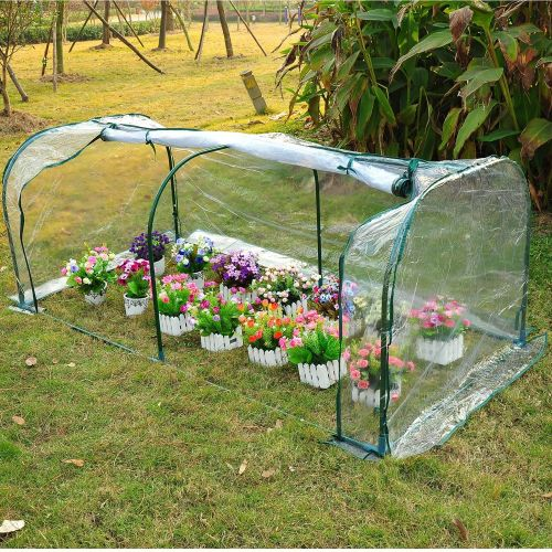 Outsunny 2m Clear PVC Garden Greenhouse Tunnel