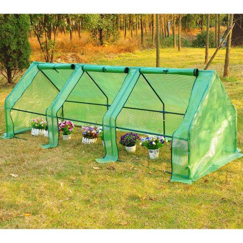 Outsunny 2.7m PVC Garden Polytunnel Greenhouse