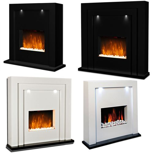 Elegant Electric Fireplace Radiator With LED Lights Various Colours - 2 Sizes