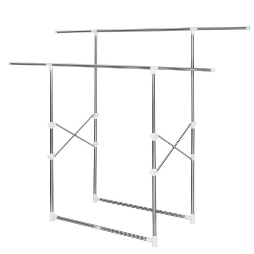 Foldable Clothes Organizer Metal Rack Stand