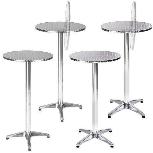 Aluminium Round Bistro Bar Table