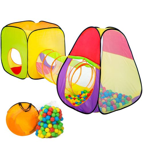 Kids Dice Tunnel Play Tent With 200 Balls