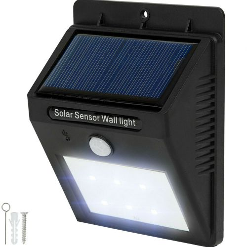 Outdoor Solar 6 LED Pir Wall Lights