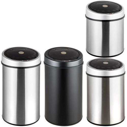 Automatic Sensor Dust Bin Stainless Steel - 4 Sizes
