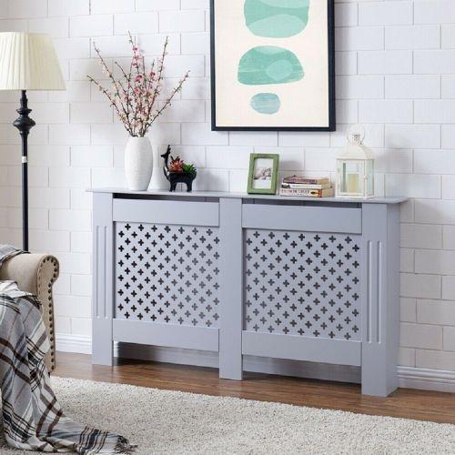 Modern Wall Cabinet Radiator MDF Wood 2 Colours