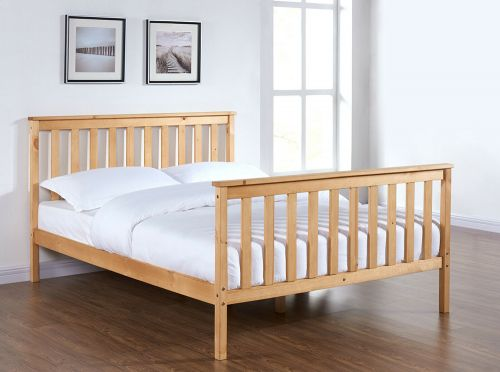 Wood Design Pine Bed Frame Natural Solid Pine - 3 Sizes