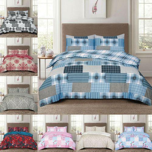 Duvet Quilt Cover Set 100% Polycotton - 4 Sizes