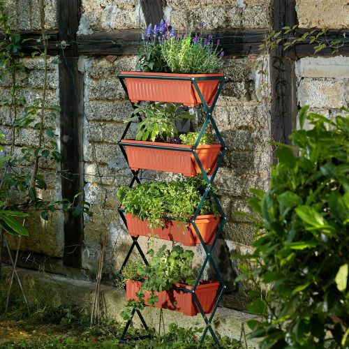 Plant Stands 4 Boxes - Vertical Style