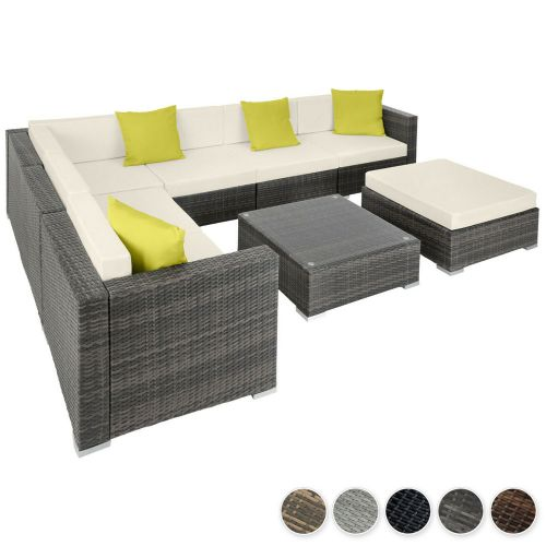 Rattan Lounge L Shape Sofa Set - 5 Colours