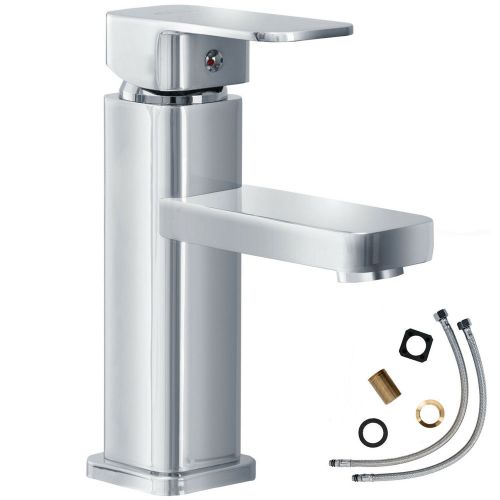 Modern Bathroom Basin Water Tap Brass Chrome One-Hand Mixer