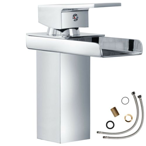Washbasin Tap with Waterfall Brass Chrome One-Hand Mixer
