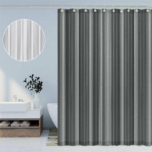 Vinyl Fabric Extra Long Shower Curtain 2 Colours - 180x200