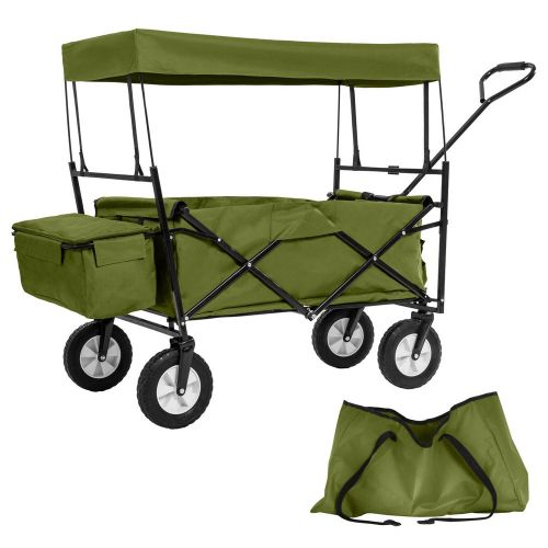 Garden Trolley With Roof Foldable Incl. Carry Bag