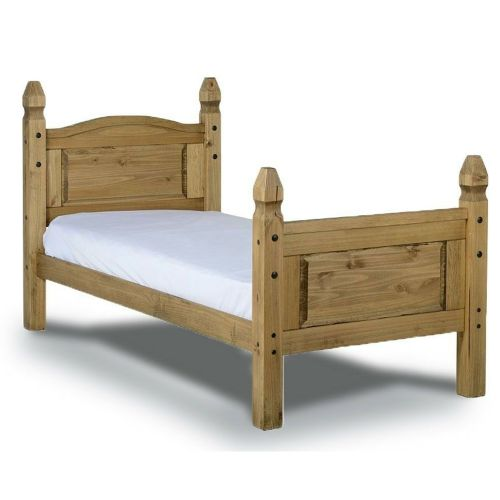 Corona Solid Pine Bed Single 3ft High End