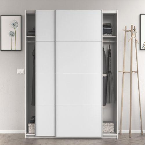 ANITA 2 Door Sliding Wardrobe Large - White