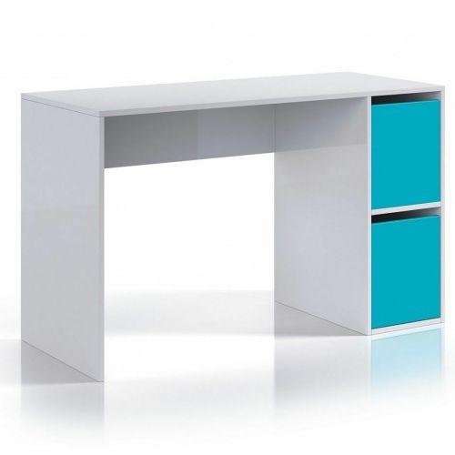 Flavia Melamine Veneer 2 Door Dressing Table - Aqua Blue