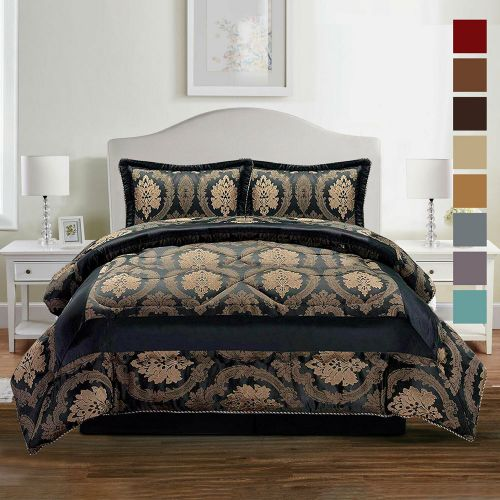 Luxury 3 Piece Quilted Duvet Pillowcase Bed Set - 3 Sizes