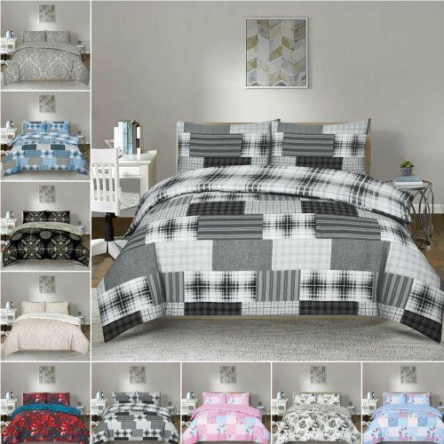 Modern Duvet Cover 3 Piece Reversible Bedding Set - 4 Sizes