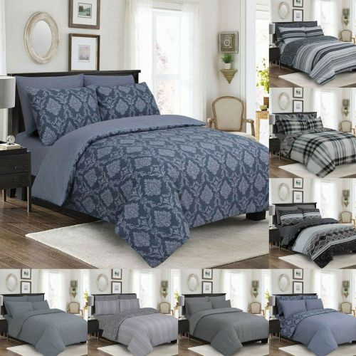 Duvet Quilt Cover Egyptian Cotton Bedding Set 11- Grey Shades