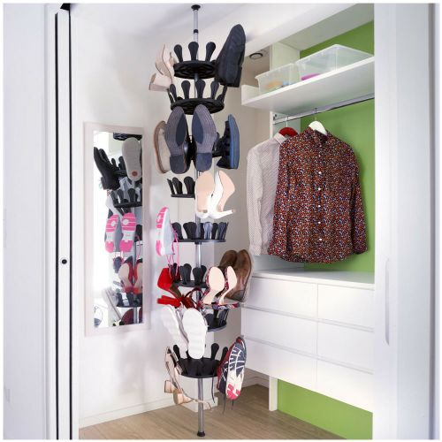Carousel Shoe Rack Organizer Stand for 48 Pairs