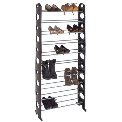 Shoe Rack Cabinet 10 Tier Stand - Black Colour