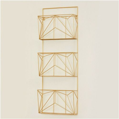Metal Wire Wall Mounted Magazine Rack - 2 Colours
