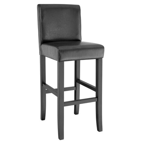 Synthetic Leather Bar Stool - Black Colour