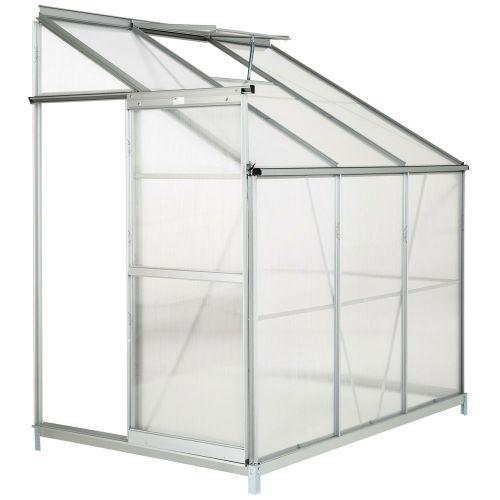Aluminium Lean Greenhouse With  Foundation - 4,09m³