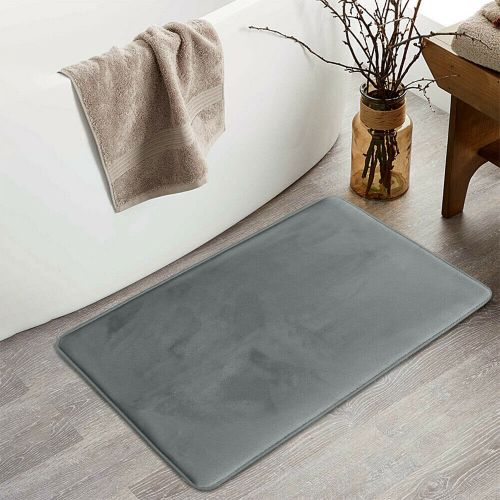 Heavy Duty Bath Mat Plain Grey Colour- 50 x 80 cm