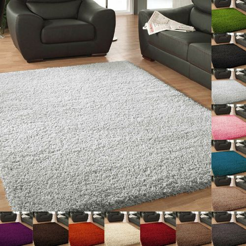 Shaggy Hallway Large Rug Non-Slip Thick Pile Rug - 13 Colours