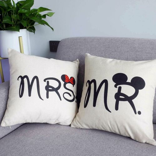 Disney MR & MRS Printed Cushions And Covers -Select