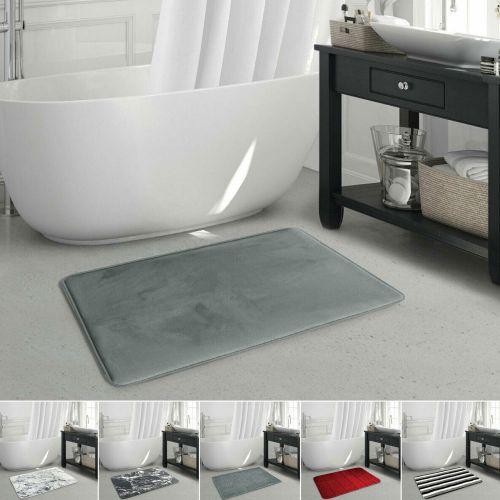Absorbent Non Slip Bath Mat Various Colours