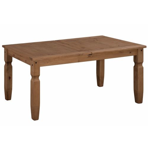 Corona Solid Pine Dining Table Small Extending - Mexican Style