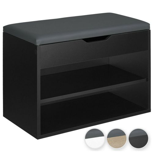 Shoe Rack Storage Compact Shelves With Padded Seat - 3 Colours