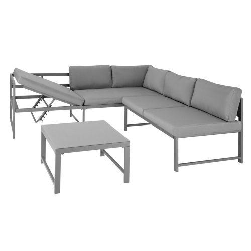 Adjustable Garden Seating Set - Grey Colour