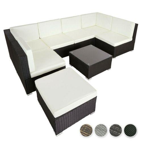 Elegant Design Poly Rattan Lounge Set - 4 Colours