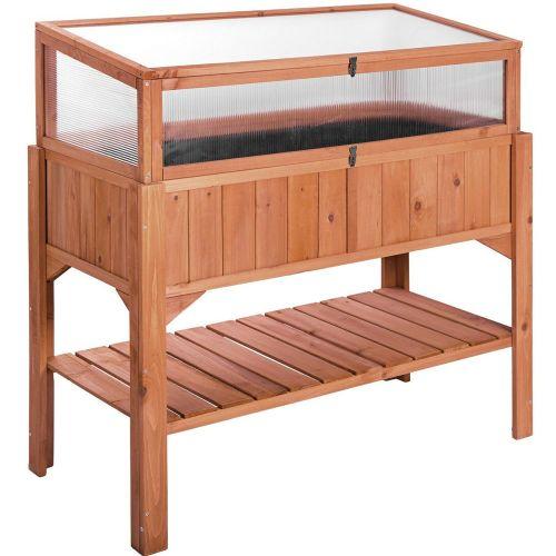 Raised Plant Shelf Frame Vegetable Garden Bed
