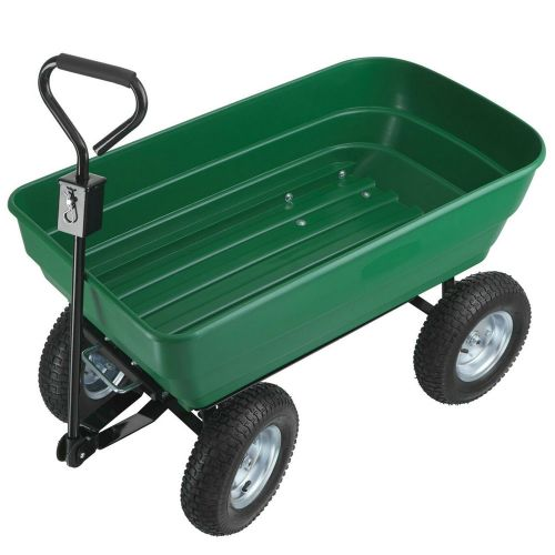 Garden Cart Dump Trolley Green Colour - 125L