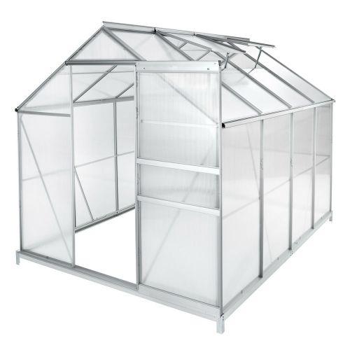 Greenhouse Aluminium Polycarbonate With Foundation -7.6m³