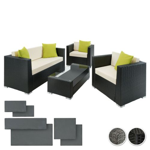 Modern Design Poly Rattan Lounge Sofa Sets With Cushions - 2 Colours