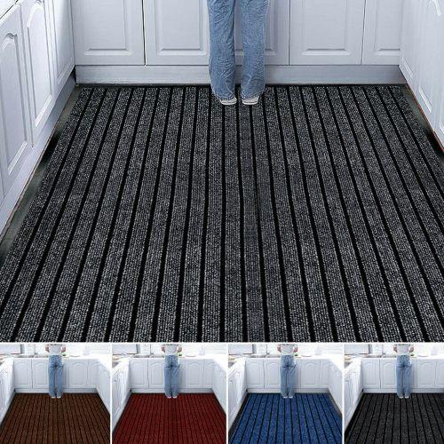 Hallway Non Slip Heavy Duty Rubber Rugs 5 Colours - 9 Sizes