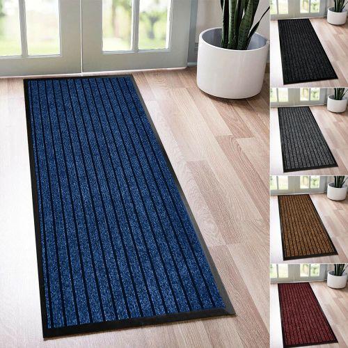 Doormats Non Slip Runner Rubber Mat 5 Colours - 8 Sizes