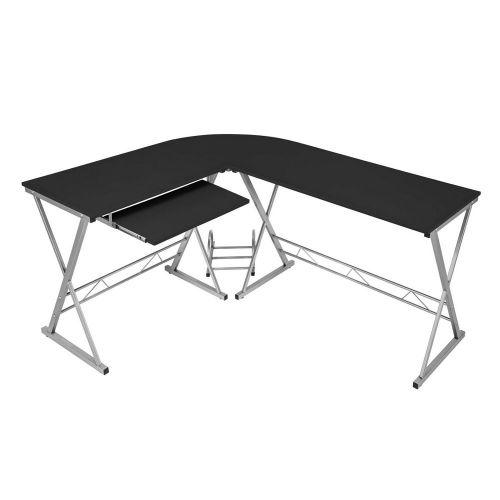 Corner Computer Desk L Shape - Black Colour