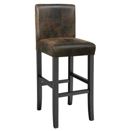 Artificial Leather Bar Stool 111cm - Antique Brown Colour