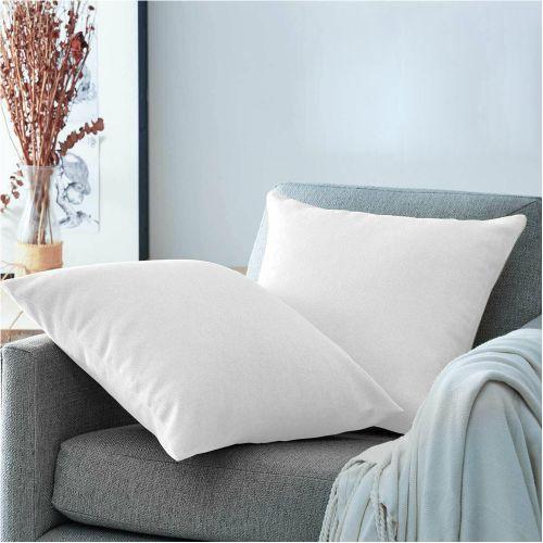 Hollow Fiber Plain Cushion Soft Deep Filled White Colour - 20x20