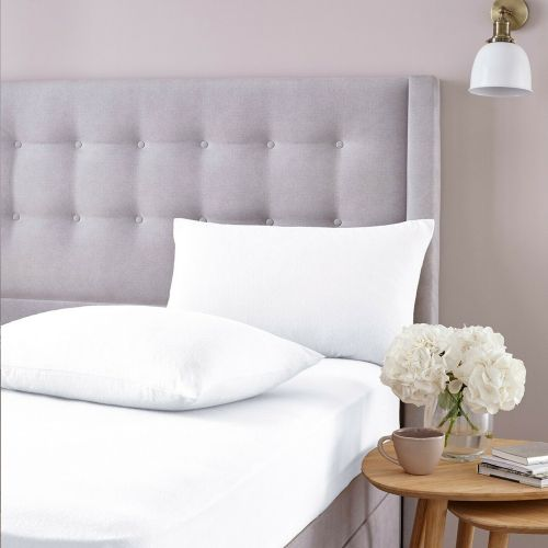 Silentnight Brushed Cotton Fitted Sheet Pillowcase Cover White - 3 Sizes