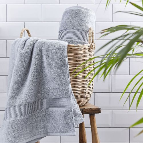 Silentnight Luxury Cotton Towel Pair Light Grey - 3 Sizes
