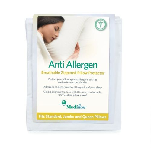 Mediflow Anti Allergy Pillow Protector Zipped Cover