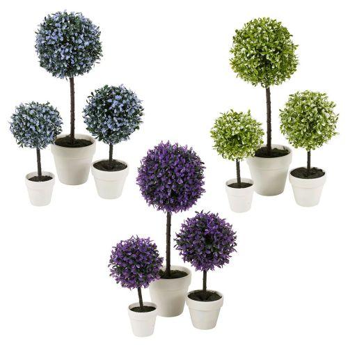Artificial Outdoor Decorative Plant Pot Set Various Colour - 3 Sizes