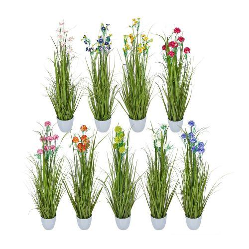 Realistic Look Flowers Artificial Plant Pot Various Colours - 2 Sizes